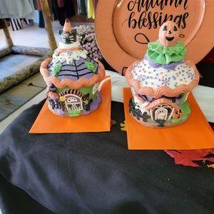 Halloween Cupcake Houses